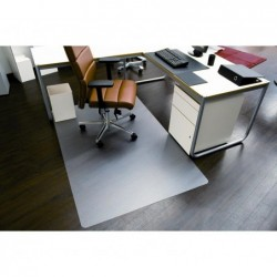 WAYTEX Tapis protège sol dur Pro PET Transparent 1.20 x 1.30m