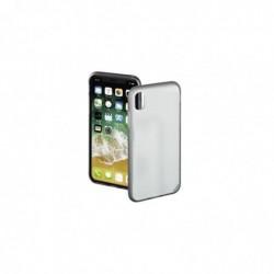 """HAMA Coque de protection """"Sticky"""" pour Apple iPhone X, transparente/grise"""