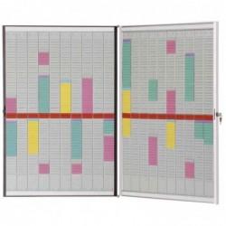 NOBO Kit planning cadre support portefeuille 20 bandes planning 54 fentes indice 2