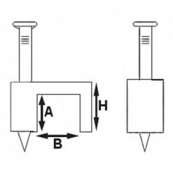 VELLEMAN Clip de fixation à clou blanc 6.00mm boîte de 100