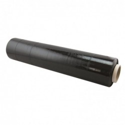 WAYTEX Film étirable 23 microns longueur 250m largeur 500mm opaque noir