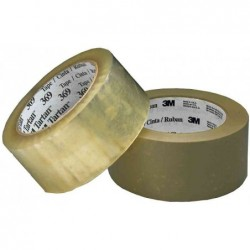 TARTAN 6 x Ruban adhésif d'emballage 369, 50mm x 66m, marron,