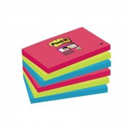 POST-IT Lot de 6 Bloc-note Super Sticky Notes 127 x 76 mm Bora Bora