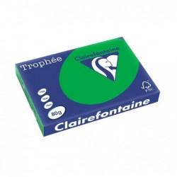 TROPHÉE Ramette 500 Feuilles Papier 80g A3 420x297 mm Certifié FSC  vert billard