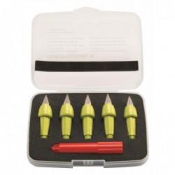 STABILO Set x 5 plumes de rechange STABILO EASYbirdy + 1 clé de réglage - jaune