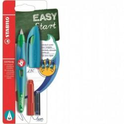 STABILO Blister x 1 stylo-plume EASYbirdy droitier + 1 clé de réglage - bleu/vert