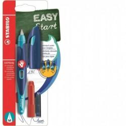 STABILO Blister x 1 stylo-plume EASYbirdy droitier + clé de réglage - bleu/turquoise