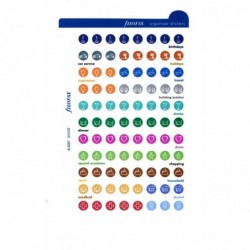 FILOFAX Stickers pour taille Pocket formes rondes coloris assortis