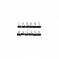 MAUL Boite de 12 Pinces mauly® 214 16 mm Capacité 5 mm Noir