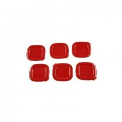 SEB SS-1530000653 Lot de 6 Couvercles Rouge pour Pot Yaourtière MultiDélice