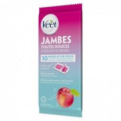 VEET Bandes de Cire Jambes - Nectarine 10 bandes