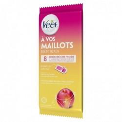 VEET Bandes de Cire Maillot - Nectarine 8 bandes