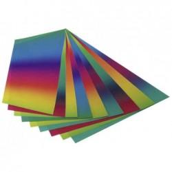 FOLIA Pochette de papier arc-en-ciel, 225 x 320mm, 100g/m2