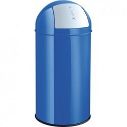 HELIT Poubelle Métal avec Clapet 50 litres Bleu