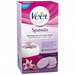 VEET Recharge Cire Sans Bande Spawax - Figue Sucrée et Lys Violet - 6 disques