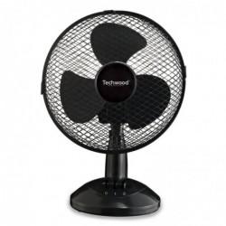 TECHWOOD Ventilateur de Table 23 cm Noir