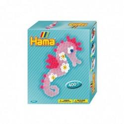 """HAMA Perles à repasser midi """"hippocampe"""",mini-coffret cadeau"""