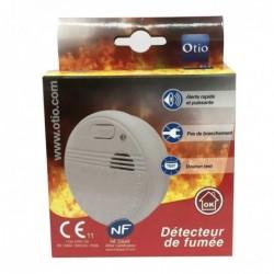 OTIO Détecteur de fumée NF & EN14604 Garantie 5 Livré avec pile et accessoires