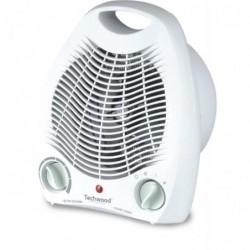 TECHWOOD Chauffage Soufflant 2000 W Thermostat / 4 Positions Blanc
