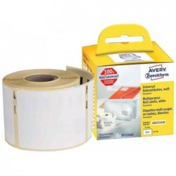AVERY ZWECKFORM Rouleau d'étiquettes thermique 70 x 54 mm, blanches