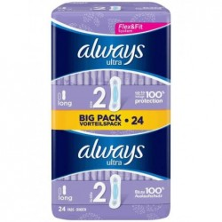 ALWAYS ultra Serviette Long, pack promo 24, taille 2