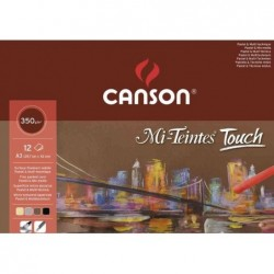 """CANSON Bloc de 12  feuilles à dessin """"Mi-Teintes Touch"""" 24 cm x 32 cm"""