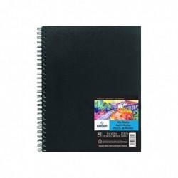 CANSON Carnet à spirale  Art Book Mix Media, Papier à dessin blanc  229 x 305 mm