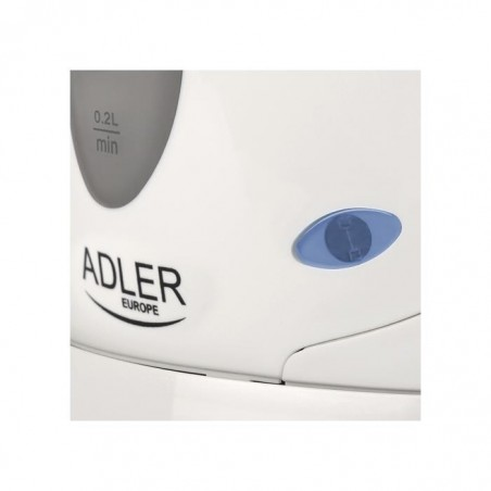ADLER EUROPE Mini Bouilloire plastique 0,6 L AD02 Blanc