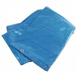 BRÜDER MANNESMANN Bâche de Recouvrement Robuste 2,6 x 3 m Bleu