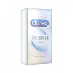 DUREX Préservatifs Invisible Extra Fin - Boîte De 10