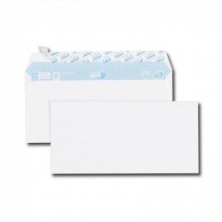 GPV Paquet de 100 enveloppes blanches DL 110x220 75 g/m² bande de protection