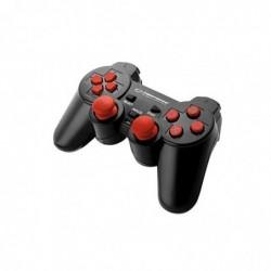 ESPERANZA Manette de Jeu EGG106R pour PC, PS2, PS3 Vibration, Filaire Noir Rouge