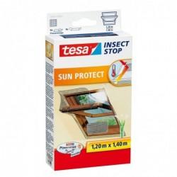 TESA Moustiquaire avec protection solaire pour fenêtre de toit 1,2 x 1,4 m