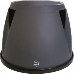 SAFETOOL Marchepied monobloc Taboo Plastique 3 roues, Charge 150 kg Gris