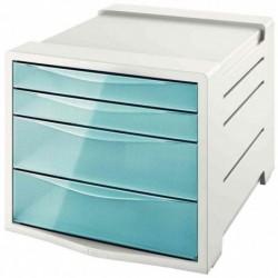 ESSELTE Module de classement Colour'Ice, 4 tiroirs, bleu
