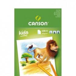 CANSON Bloc Dessin Coloriage KIDS 30 Feuilles A4 90 g