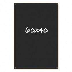 """BEQUET Ardoise murale """"PANO"""" 60 x 40 cm en PVC expansé noir 3 mm"""