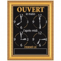 "BEQUET Panneau horaires 20 x 15 cm ""ORNEMENT"" + fil nylon de suspension"