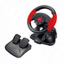 ESPERANZA Volant de Jeux vidéo avec pédales d'accélération/de Frein PS2/PS3/PC Noir