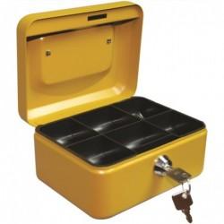 RESKAL Caisse à monnaie 152x115x80   coloris jaune moutarde mat sablé