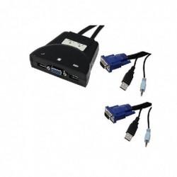 MCL SAMAR 2 PORTS POCKET KVM - USB + VGA