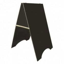 """BEQUET Chevalet de trottoir 95 x 58.5 cm """"CHEVALET"""" double panneaux en PVC expansé noir"""