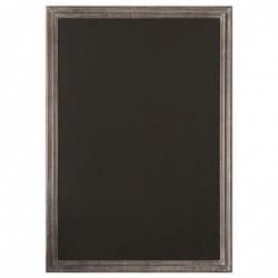 """BEQUET Tableau noir médium mélaminé 5mm """"MACADAM"""" 99 x 69 cm - cadre cérusé gris"""