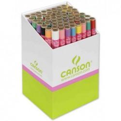 CANSON Papier de soie, 0,5 x 5,0 m, 20 g/m2, présentoir de 50 rouleaux