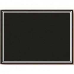 BEQUET Lot de 3 panneaux impression ardoisine noire  sur PVC blanc - 40 x 30 cm