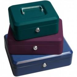 RESKAL Caisse à monnaie 300x240x90  casier plastique amovible coloris bleu foncé finition mat sablé