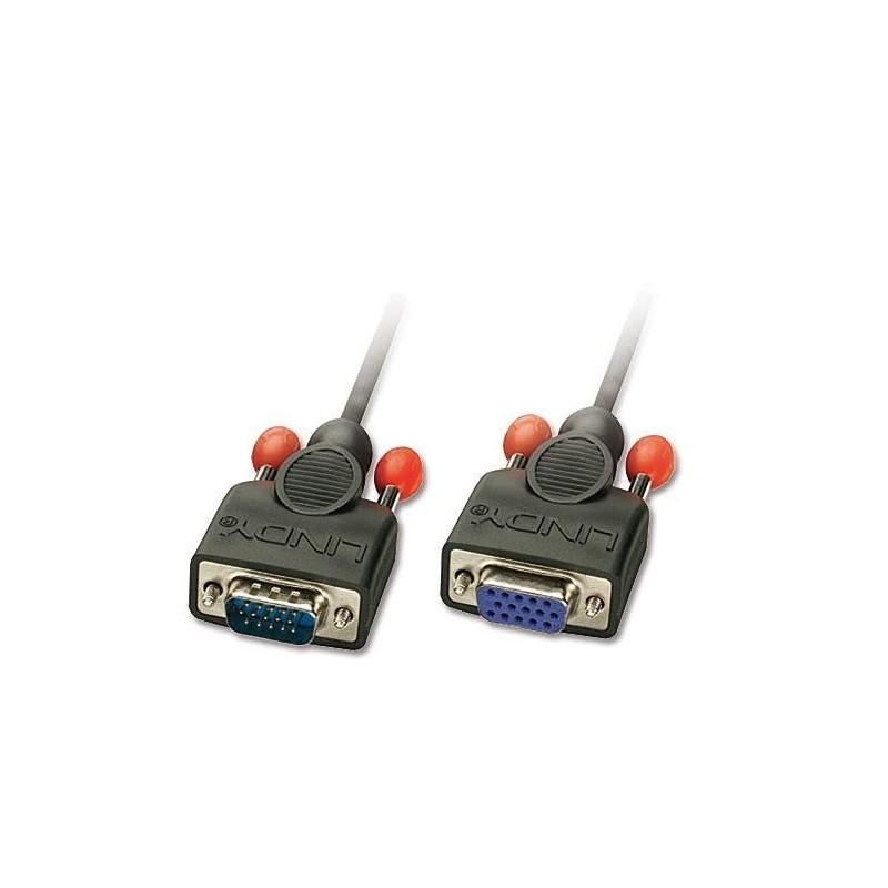 LINDY Rallonge VGA sans ferrites, mâle/femelle, 2m
