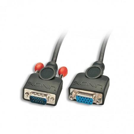 LINDY Rallonge VGA sans ferrite, prises mâle/femelle HD 15 broches, 1m