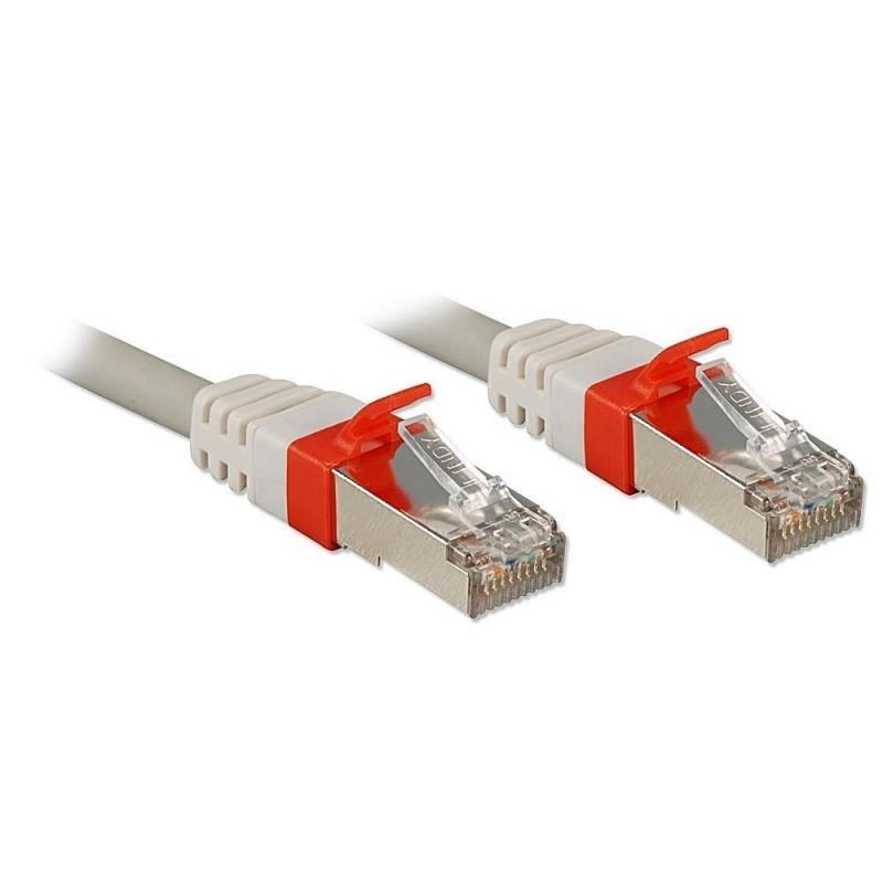 LINDY Câble réseau patch cat.6A S/FTP PIMF Premium, cuivre, 10 Gbit, 500Mhz, LSOH, gris, 0,5m