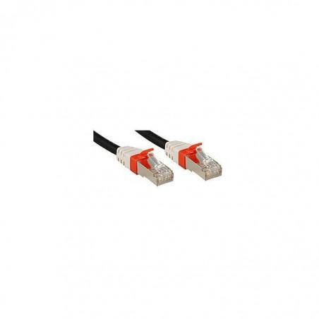 LINDY Câble réseau patch cat.6A S/FTP PIMF Premium, cuivre, 10 Gbit, 500Mhz, LSOH, noir, 0,5m